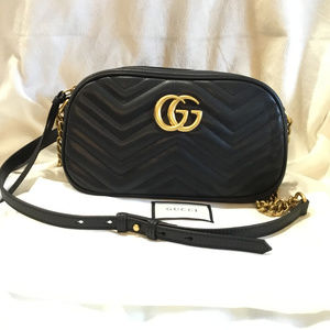 GG Marmont small shoulder bag Brand New Black